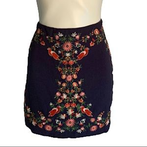 Altar'd State Floral Embroidered Mini Skirt.